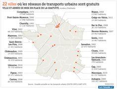 Villes françaises où les transports sont gratuits