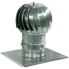 Spinning Chimney Cowl Aluminum Flue Ventilation with Extra Roof Plate 130mm -- Details can be found by clicking on the image.