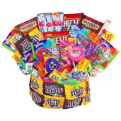Shop for Candy Muncher's Paradise Candy Arrangement. Get free delivery On EVERYTHING* Overstock - Your Online Gift Baskets Shop! Get in rewards with Club O! Gift Bouquet, Candy Bouquet, Gourmet Gifts, Gourmet Recipes, Birthday Gift Baskets, Birthday Gifts, Birthday Ideas, Birthday Parties, Birthday Cake