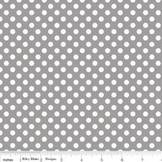 Riley Blake Designs - Dots - Small Dots in Gray