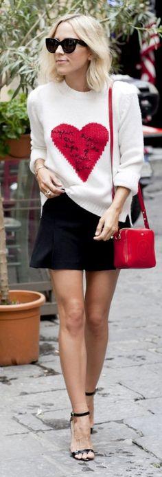 Heart Print Knit #Damsel In Dior