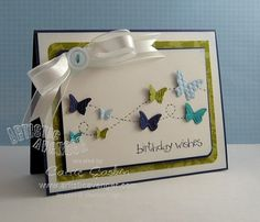 Butterfly card :) would make a cute bday card.