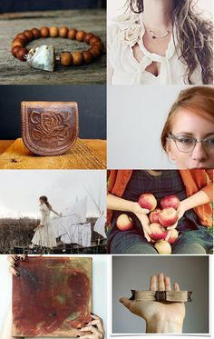"""""""Apples and Sienna"""" - a wonderful treasury curated by Samirah S, of Seedling Clayworks, featuring my painting """"Silk Road Sienna""""--Pinned with TreasuryPin.com"""