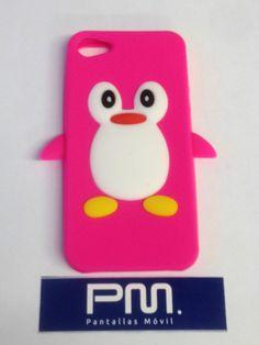 Funda Silicona Pingüino Rosa Iphone 5 / 5s