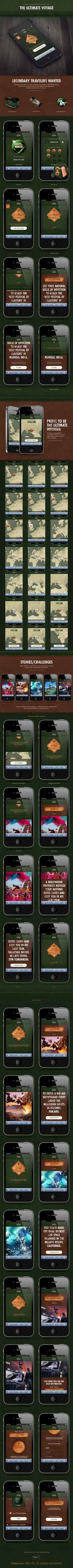 A Mobile in browser code redemption game for Heineken by Robbin Cenijn *** #web #gui #behance