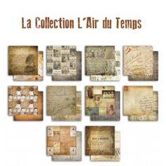 Papiers L'Air du Temps - 10 feuilles recto/verso 30,5x30,5