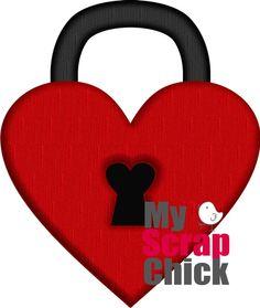 Heart Lock: My Scrap Chickn freebie. *