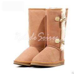 Bottes Fourrées-BGG neige bottes Classic Tall bottes de cuir sexy et élégante