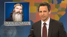 Check out some of Seth's greatest burns from behind the Weekend Update desk, and get excited for even more dishing when Late Night with Seth Meyers premieres on February Phil Robertson, Good Burns, Weekend Update, Seth Meyers, Duck Dynasty, Hollywood Life, Saturday Night Live, Snl, Get Excited