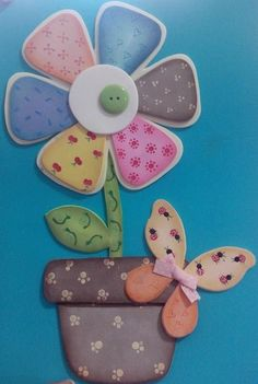 Foam Crafts, Fabric Crafts, Diy And Crafts, Arts And Crafts, Paper Crafts, Animal Crafts For Kids, Scrapbook Embellishments, Flower Cards, Paper Piecing