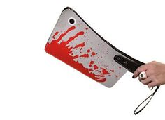 Whether you want to turn heads or make them roll, the bloody cleaver purse will get you noticed. Probably mostly by vampire wannabe goth kids and the polic