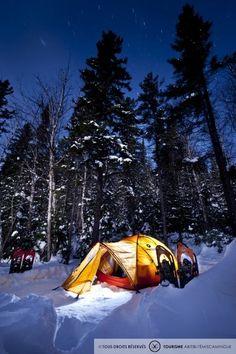 Plaisirs d'hiver - Camping - Photo: Hugo Lacroix