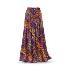 Vibrant Tribal Maxi Skirt Size 2X Multi ($50) ❤ liked on Polyvore featuring skirts, plus size, plus size skirts, plus size long skirts, tribal print maxi skirt, long draped skirt and plus size long maxi skirts
