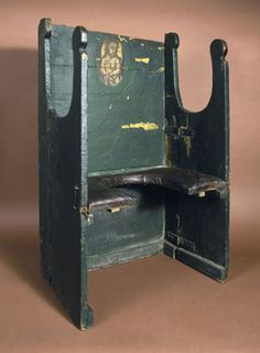 """The 'Miraculous Chair of Palermo', parturition chair, early 18th century [Science Museum] """"Birthing Chair"""""""