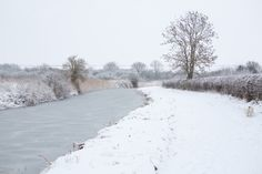 A crisp snowy walk along the canal at Cotgrave is a wonderful place to play safely and lots of variety to keep it an interesting walk. photo by Beverley Perkins Photographer
