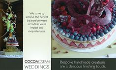 Cocoa Cream wedding flyer.  Down load from my blog
