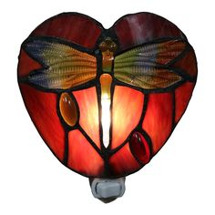 Filipa 1 Light Red Dragonfly 6 Inch Plug In Wall Sconce With Bulb