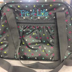 The All-in-Tote is a great solution for a gym bag! Slip your yoga mat in the pocket and your on your way to a healthier lifestyle.