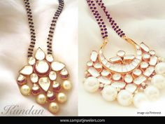 """""""Mangalsutra"""" is a necklace that a groom ties around the bride's neck when they get married. It is supposed to be the most auspicious piece of jewelry that a bride will own once she married and is a sign of her marital status."""