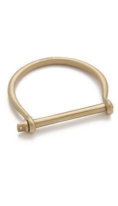 Miansai Screw Cuff - Brushed Brass
