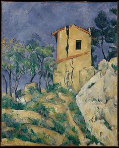 """Paul Cézanne (1839-1906), """"The House with the Cracked Walls"""" - The Metropolitan…"""