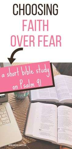 Choosing faith over fear is easier said than done. However when we look at Psalm 91 we see clearly God's promise to deliver and rescue us. Bible Studies For Beginners, Bible Study Lessons, Bible Study Plans, Bible Study Journal, Romans Bible Study, Small Group Bible Studies, Bible Study Group, Women's Bible Studies, Christian Quotes For Women