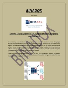 Software license compliance can make your business prosperous and flourished.  Binadox is a software license providing company and helps to manage software license compliance to avoid costly violations and inspection/audit of software while implementing.  For More Information Visit Here:- https://www.binadox.com/