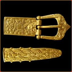 Viking buckle and belt end
