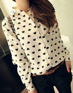 Camisa Feminina de Coração - Camisas   DMS Boutique