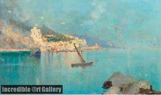 Fishing boats-  Oscar Ricciardi (Napoli, 1864 – Napoli, 1935)