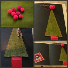 How to sew a Christmas card