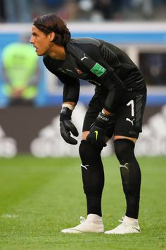 Yann Sommer of Switzerland looks on during the 2018 FIFA World Cup Russia Round of 16 match between Sweden and Switzerland at Saint Petersburg. Saint Petersburg, Goalkeeper, Fifa World Cup, Switzerland, Sweden, Chelsea, That Look, Soccer, Sporty