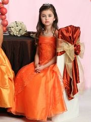 Caviar beaded flower girl dress for fall wedding.