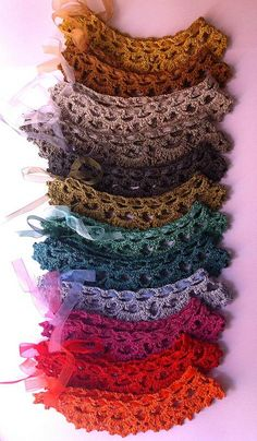 A choice of colors, crochet collar hand made & designed by…   Flickr