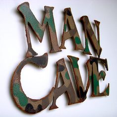 Man cave wall art metal painted camouflage by FunctionalSculpture, $75.00