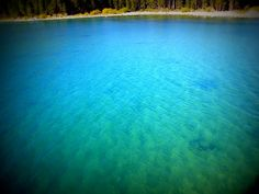 The entrance to Emerald Bay, Lake Tahoe California    The water is that blue!