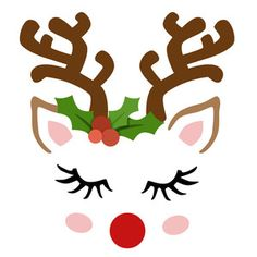 This Whimsical Reindeer Face is a fun design that will add a seasonal flair to your Christmas creations. Christmas Rock, Christmas Svg, Christmas Printables, Christmas Shirts, Christmas Projects, Christmas Holidays, Christmas Decorations, Christmas Ornaments, Christmas Tables