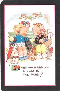 Mabel Lucie Attwell Unused loving theme by THEPOSTCARDSHOP on Etsy, $10.64