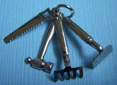 Vintage Tools Sterling Charm