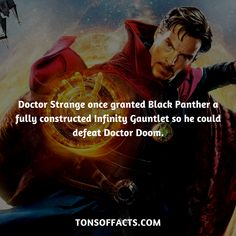 Doctor Strange once granted Black Panther a fully constructed Infinity Gauntlet so he could defeat Doctor Doom. #doctorstrange #tvshow #theavengers #comics #marvelcomics #interesting #fact #facts #trivia #superheroes #memes #1 #movies