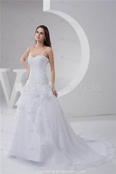 Nice beautiful wedding dresses with straps 2018/2019