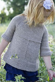 """""""Puddle Duck"""" child's sweater knitting pattern by Melissa Schaschwary.  So cute!"""