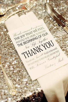 Personalized Wedding Reception Ideas Leave A Thank You Note At