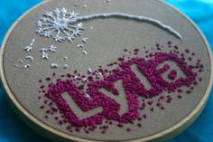 cute way to embroider a name