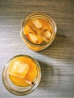 Iced Tumeric Ginger Latte--a cool, anti-inflammatory, caffeine-free vegan drink that's easy to make at home https://www.benourished.me/single-post/2017/07/29/Iced-Tumeric-Ginger-Latte