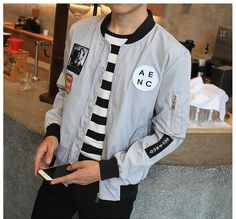 02c354d2db2be Bomber Jacket For Men Hip Hop Plus Size Jacket Slim Fit Jacket Item Type   Outerwear   Coats Outerwear Type  Hip Hop Jackets