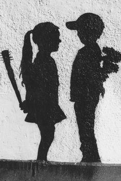 Banksy, thank you dear for portraying this so accurately. Street Art Banksy, Banksy Graffiti, Graffiti Wall Art, Bansky, Deep Art, Urban Art, Art Google, Les Oeuvres, Vector Art