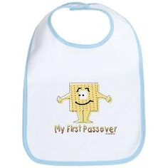 Is this your baby's first Passover? Mark the occasion with this cute My First Passover bib. Made of 100% cotton, this bib washes easily and has a sturdy closure. It also comes in a few colors, so you can choose the one you like best.