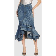 Denim Skirts | JUNYA WATANABE COMME DES GARCONS Women Denim skirts - Polyvore