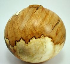 """Greg Gallegos - """"Simply Spalted Sycamore Vessel"""""""